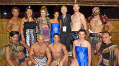 Toni Huata with some of NZ's most talented Maori Dancers from Hawaiki Tu and Atamira	in The Solomon Islands